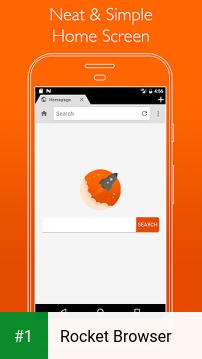 Rocket Browser app screenshot 1