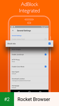 Rocket Browser apk screenshot 2