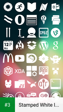 Stamped White Icons app screenshot 3