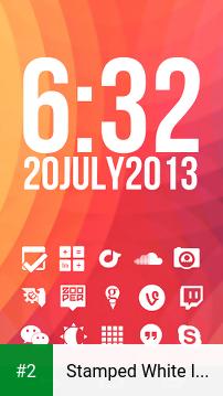 Stamped White Icons apk screenshot 2