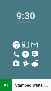 Stamped White Icons app screenshot 1
