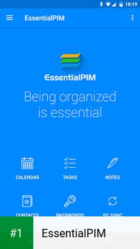 EssentialPIM app screenshot 1