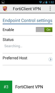 FortiClient VPN app screenshot 3