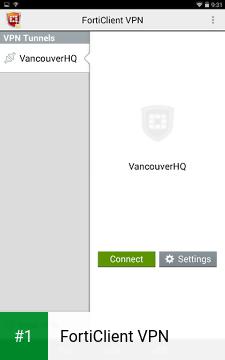 FortiClient VPN app screenshot 1