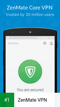 ZenMate VPN app screenshot 1