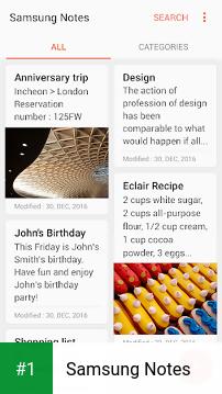 Samsung Notes app screenshot 1