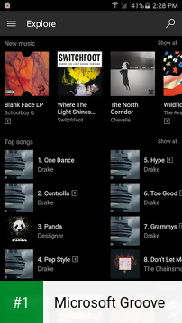 Microsoft Groove app screenshot 1