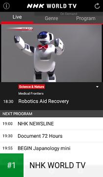 NHK WORLD TV app screenshot 1