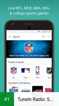 TuneIn Radio: Stream NFL, Sports, Music & Podcasts app screenshot 1