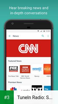 TuneIn Radio: Stream NFL, Sports, Music & Podcasts app screenshot 3