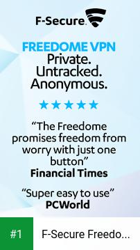 F-Secure Freedome VPN app screenshot 1