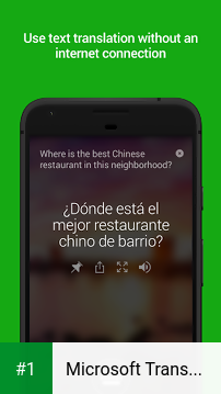 Microsoft Translator app screenshot 1