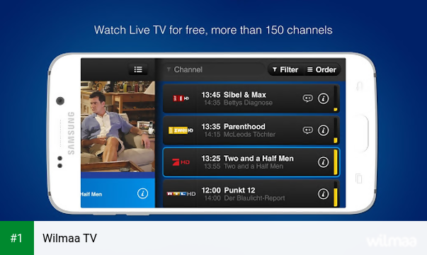 Wilmaa TV app screenshot 1