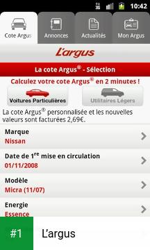 L'argus app screenshot 1
