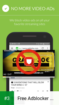 Free Adblocker Browser - Adblock & Popup Blocker app screenshot 3
