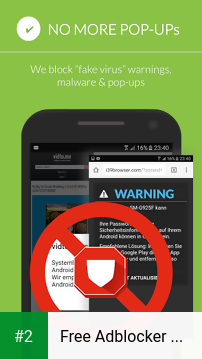 Free Adblocker Browser - Adblock & Popup Blocker apk screenshot 2