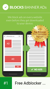Free Adblocker Browser - Adblock & Popup Blocker app screenshot 1