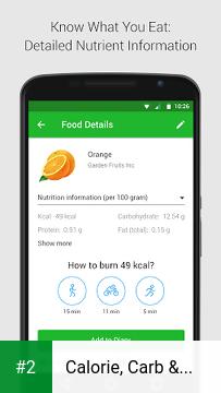 Calorie, Carb & Fat Counter apk screenshot 2