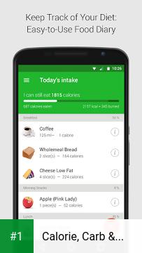 Calorie, Carb & Fat Counter app screenshot 1