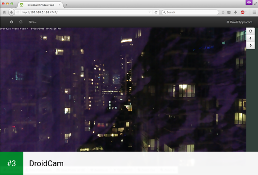 DroidCam app screenshot 3