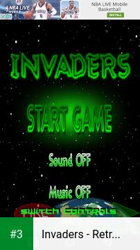 Invaders - Retro Arcade Space Shooter app screenshot 3