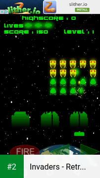 Invaders - Retro Arcade Space Shooter apk screenshot 2