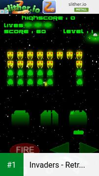 Invaders - Retro Arcade Space Shooter app screenshot 1