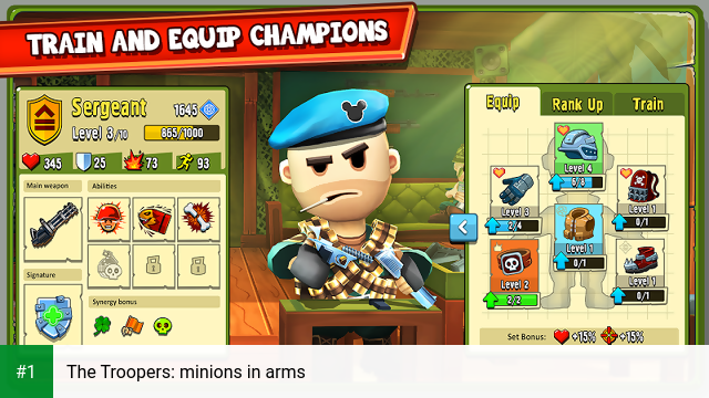 The Troopers: minions in arms app screenshot 1