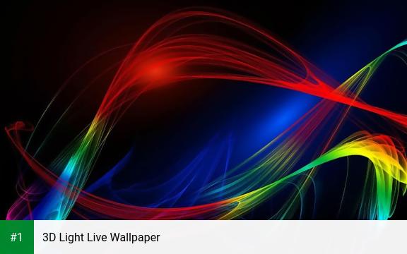 3D Light Live Wallpaper app screenshot 1