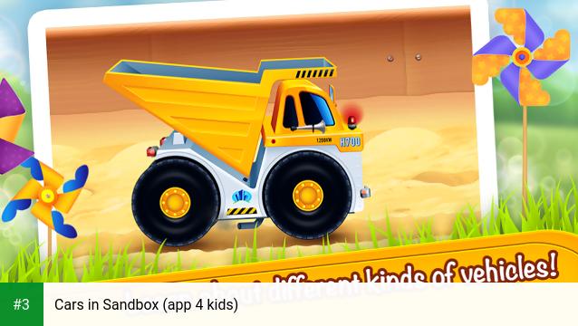 Cars in Sandbox (app 4 kids) app screenshot 3