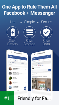 Friendly for Facebook app screenshot 1