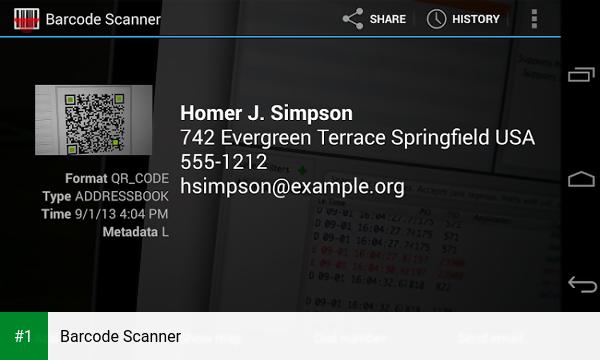Barcode Scanner app screenshot 1