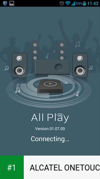 ALCATEL ONETOUCH WiFi Music app screenshot 1