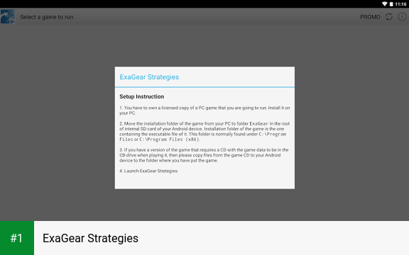 ExaGear Strategies app screenshot 1