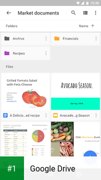 Google Drive app screenshot 1