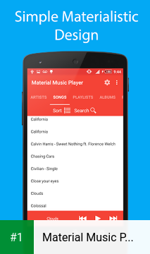 Material Music Player app screenshot 1
