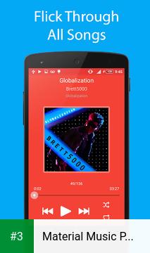 Material Music Player app screenshot 3