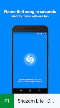 Shazam Lite - Discover Music app screenshot 1
