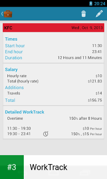 WorkTrack app screenshot 3