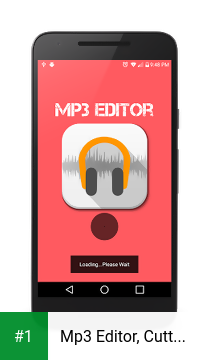 Mp3 Editor, Cutter & Merger app screenshot 1
