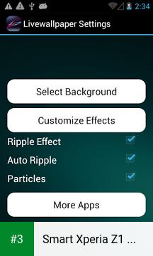 Smart Xperia Z1 Live Wallpaper app screenshot 3