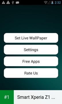 Smart Xperia Z1 Live Wallpaper app screenshot 1
