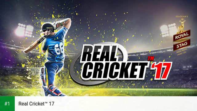 Real Cricket™ 17 app screenshot 1