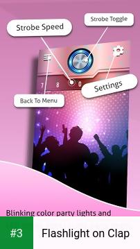 Flashlight on Clap app screenshot 3