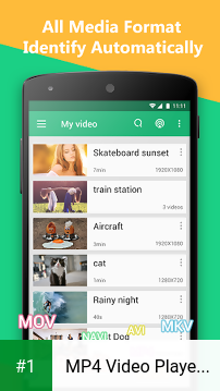 MP4 Video Player for Android app screenshot 1