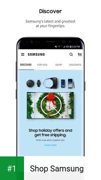Shop Samsung app screenshot 1