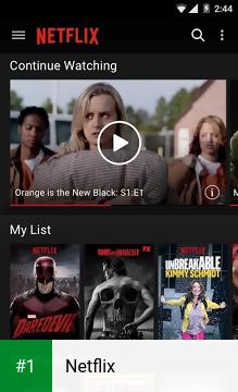 Netflix app screenshot 1