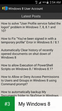 My Windows 8 app screenshot 3