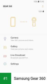 Samsung Gear 360 app screenshot 1