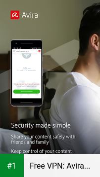 Free VPN: Avira Phantom VPN app screenshot 1
